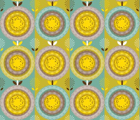 Mandala Stems fabric by paula's_designs on Spoonflower - custom fabric