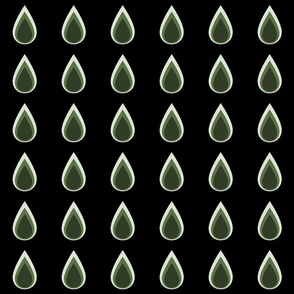 Raindrops_3_drops_dark_green_on_black_spring_17