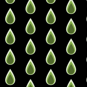 Raindrops_3_drops_green_on_black_spring_17