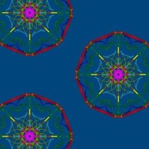 Dream Webs on Bilberry Blue