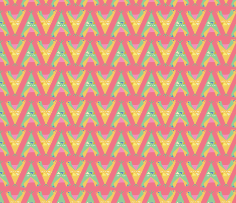 Wigwam, coral fabric by michellegracedesign on Spoonflower - custom fabric