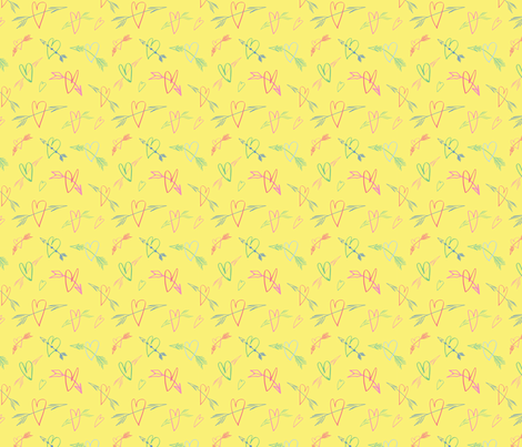 Poisoned Arrows, yellow fabric by michellegracedesign on Spoonflower - custom fabric