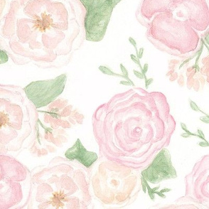 Peachy Floral Watercolor