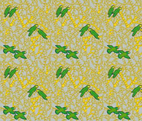 old married parrots 1 [yarrow] fabric by kheckart on Spoonflower - custom fabric