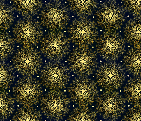 Golden Mandala Sparklers fabric by hollybender on Spoonflower - custom fabric