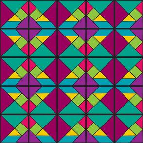 Jewel Tone Tangram