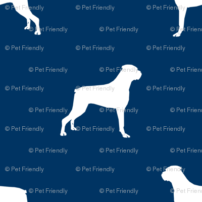 Boxer dog silhouette fabric pattern navy