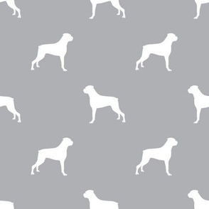 Boxer dog silhouette fabric pattern quarry
