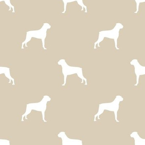Boxer dog silhouette fabric pattern sand