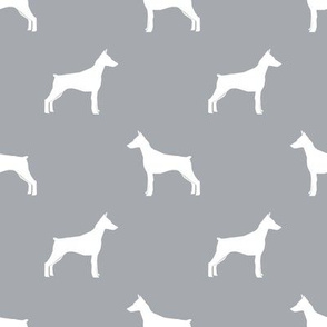 Doberman Pinscher silhouette dog fabric quarry