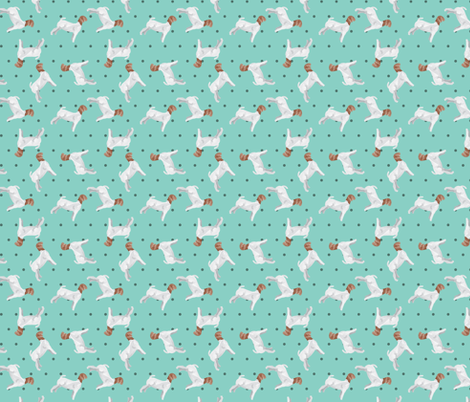 Polka Dot Boer Goat - Teal fabric by thecraftyblackbird on Spoonflower - custom fabric
