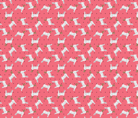 Polka Dot Boer Goat - Pink fabric by thecraftyblackbird on Spoonflower - custom fabric