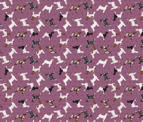 Polka Dot Boer Goat - Purple fabric by thecraftyblackbird on Spoonflower - custom fabric