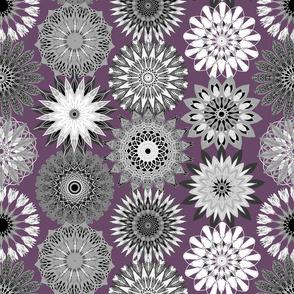 Grayscale Floral Mandala Celebration