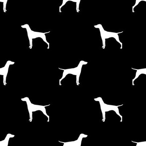 Vizsla dog fabric silhouette black and white