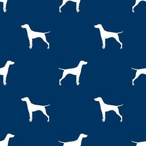 Vizsla dog fabric silhouette navy