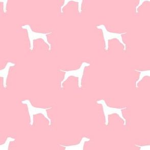 Vizsla dog fabric silhouette pink