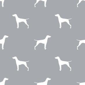 Vizsla dog fabric silhouette quarry grey