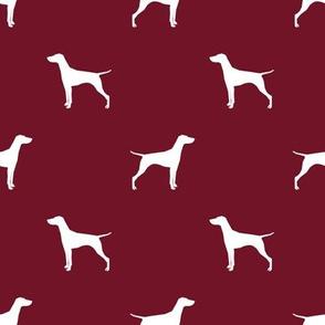 Vizsla dog fabric silhouette ruby