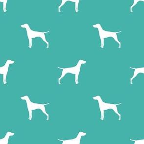 Vizsla dog fabric silhouette turquoise