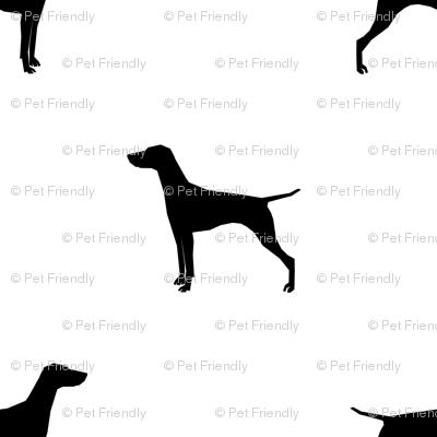 Vizsla dog fabric silhouette white