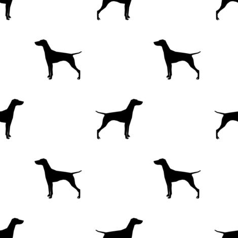 Vizsla dog fabric silhouette white fabric by petfriendly on Spoonflower - custom fabric