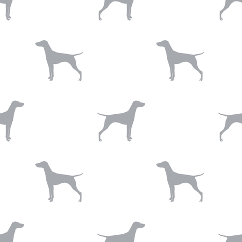 Vizsla dog fabric silhouette white quarry fabric by petfriendly on Spoonflower - custom fabric