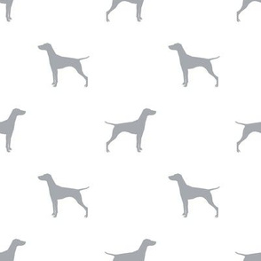 Vizsla dog fabric silhouette white quarry