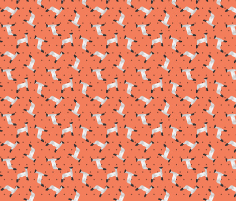 Polka Dot Lamb - Coral fabric by thecraftyblackbird on Spoonflower - custom fabric