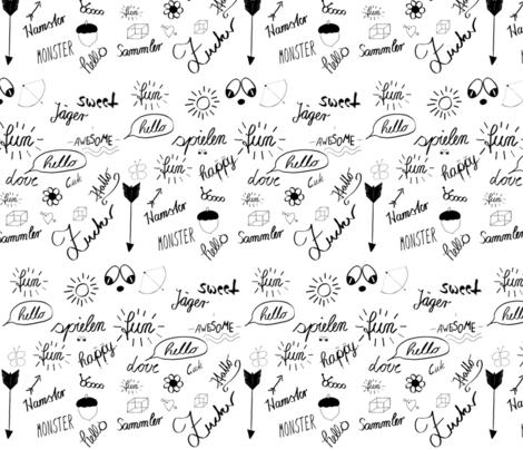 Itzi Bitzi Design lustig fabric by berlinart2 on Spoonflower - custom fabric