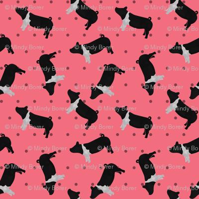 Polka Dot Belted Pig - Pink