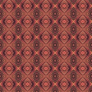 Burnt Orange Diamond Brocade