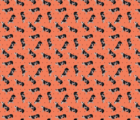 Polka Dot Spotted Pig - Coral fabric by thecraftyblackbird on Spoonflower - custom fabric
