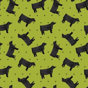 Polka Dot Steer - Lime