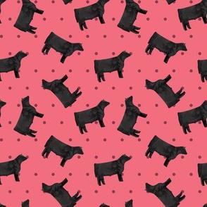 Polka Dot Steer - Pink