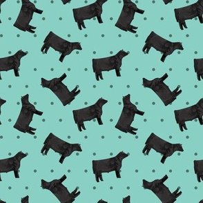 Polka Dot Steer - Teal