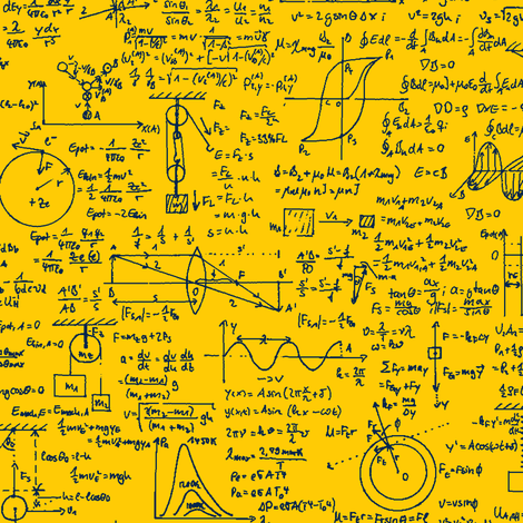 Physics Equations - Custom fabric by thinlinetextiles on Spoonflower - custom fabric