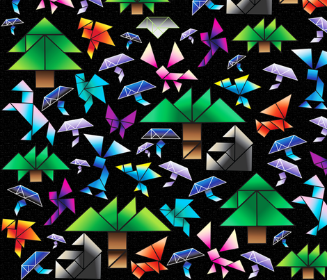 A trip through the forest  fabric by everhigh on Spoonflower - custom fabric