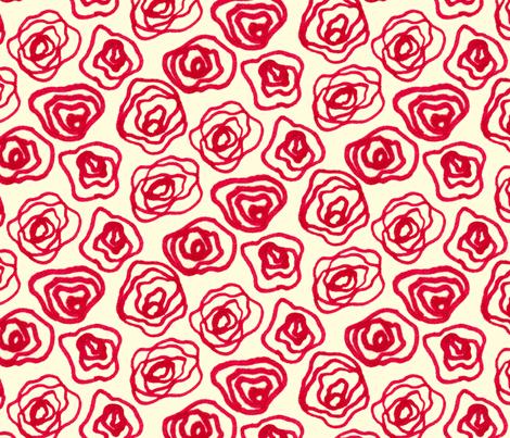 Roses 2 (Big) fabric by arielskye on Spoonflower - custom fabric