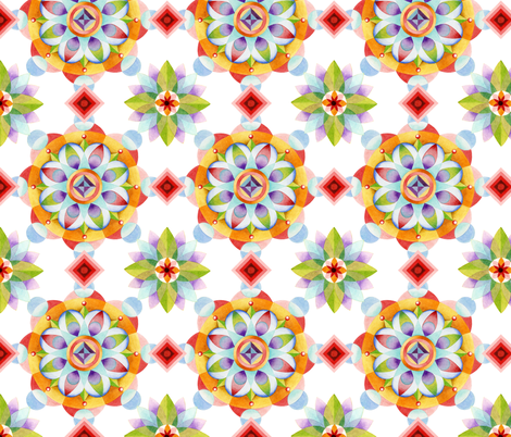 Beaux Arts Mandala fabric by patriciasheadesigns on Spoonflower - custom fabric