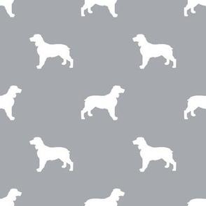 English Springer Spaniel dog silhouette quarry