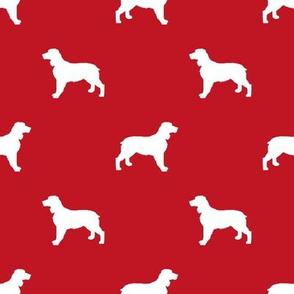 English Springer Spaniel dog silhouette red