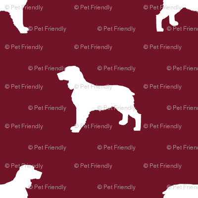 English Springer Spaniel dog silhouette ruby