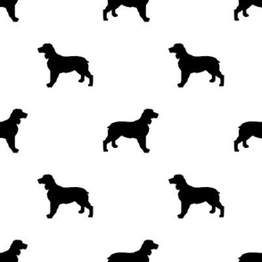 English Springer Spaniel dog silhouette white
