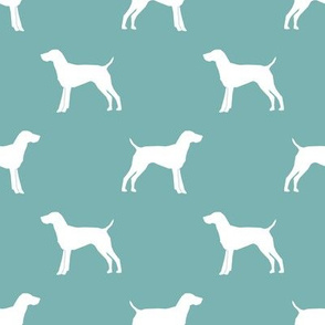 German Shorthair Pointer dog silhouette gulf blue