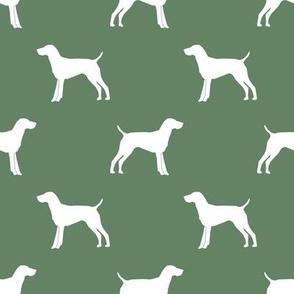 German Shorthair Pointer dog silhouette med green