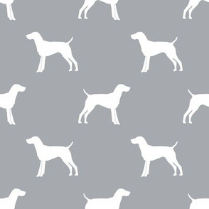 German Shorthair Pointer dog silhouette quarry