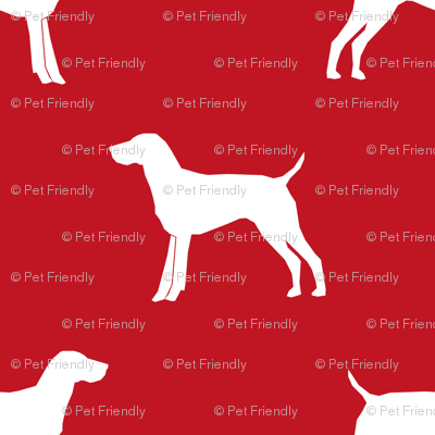 German Shorthair Pointer dog silhouette red