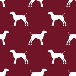 German Shorthair Pointer dog silhouette ruby