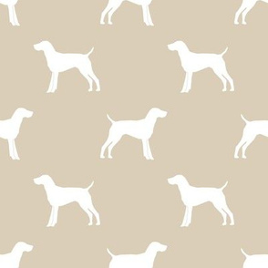 German Shorthair Pointer dog silhouette sand